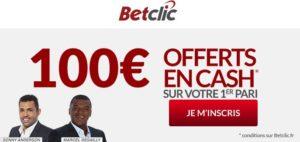 betclic 100 e offerts bonus cash